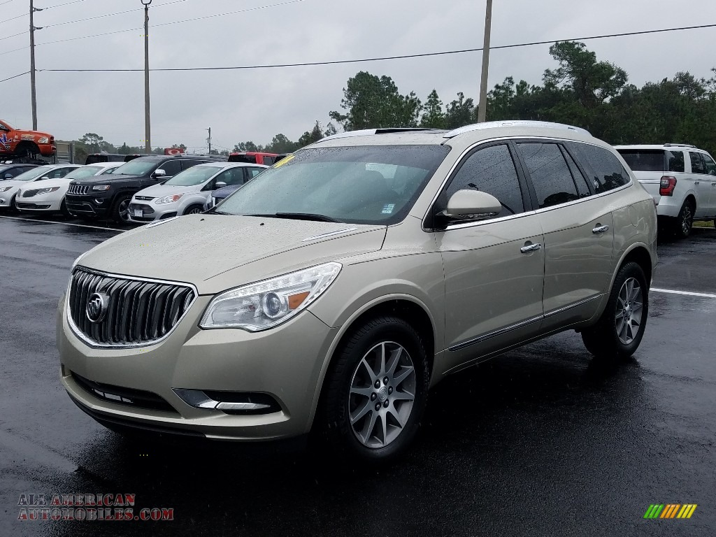 Champagne Silver Metallic / Cocoa Buick Enclave Leather