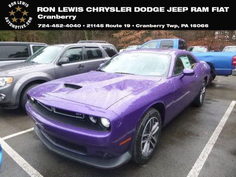 Plum Crazy Pearl 2019 Dodge Challenger GT AWD