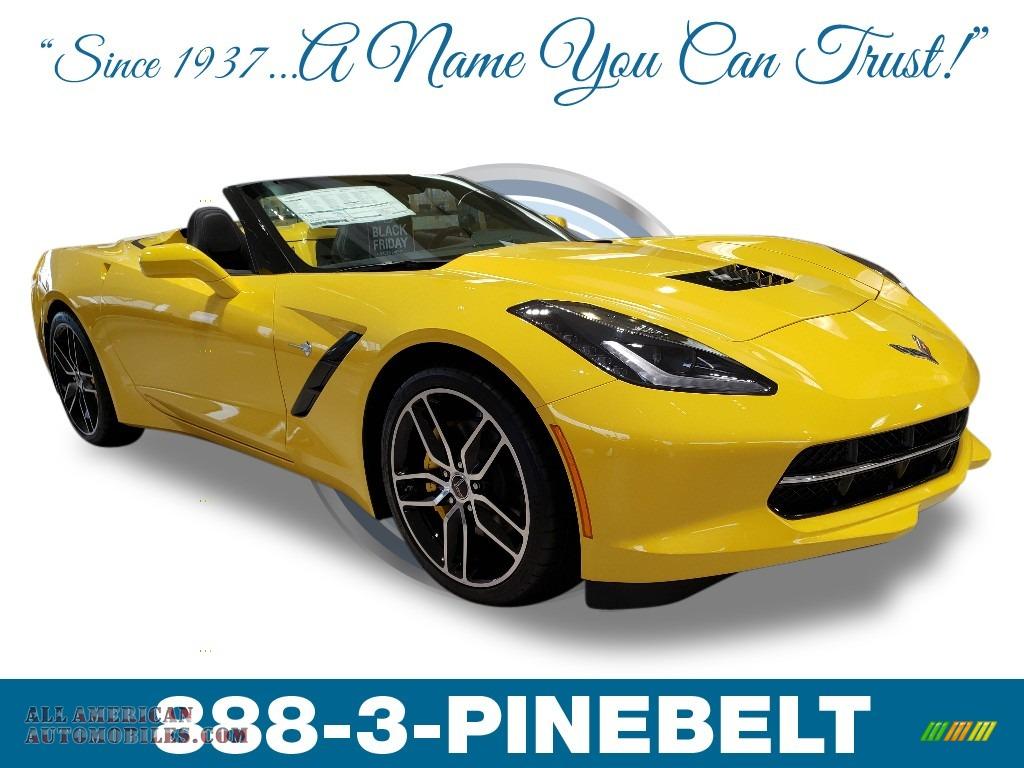 2019 Corvette Stingray Convertible - Corvette Racing Yellow Tintcoat / Black photo #1