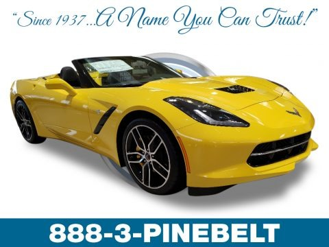 Corvette Racing Yellow Tintcoat 2019 Chevrolet Corvette Stingray Convertible