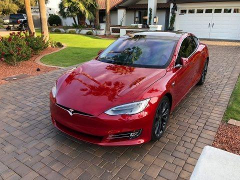 Red Multi-Coat 2018 Tesla Model S P100D
