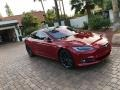 Tesla Model S P100D Red Multi-Coat photo #21