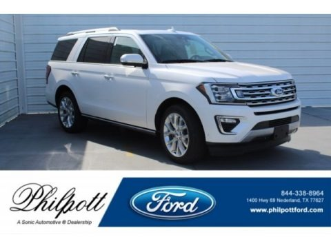 White Platinum 2018 Ford Expedition Limited