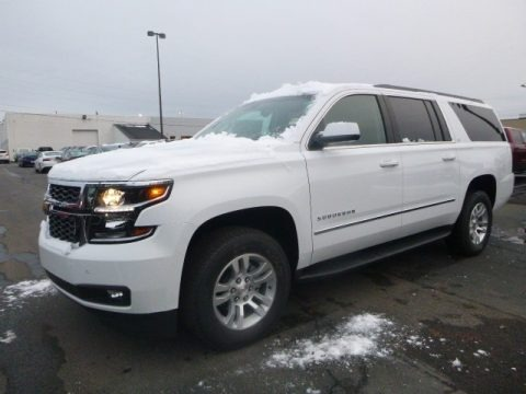 Summit White 2019 Chevrolet Suburban LT 4WD