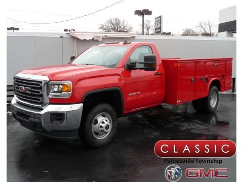 Red 2019 GMC Sierra 3500HD Regular Cab Utility Truck