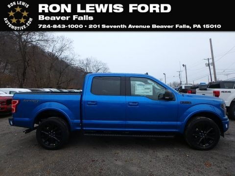 Velocity Blue 2019 Ford F150 XLT Sport SuperCrew 4x4