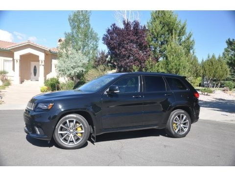 Diamond Black Crystal Pearl 2018 Jeep Grand Cherokee Trackhawk 4x4