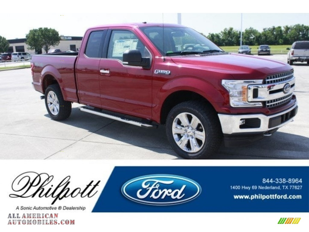 Ruby Red / Light Camel Ford F150 XLT SuperCab 4x4