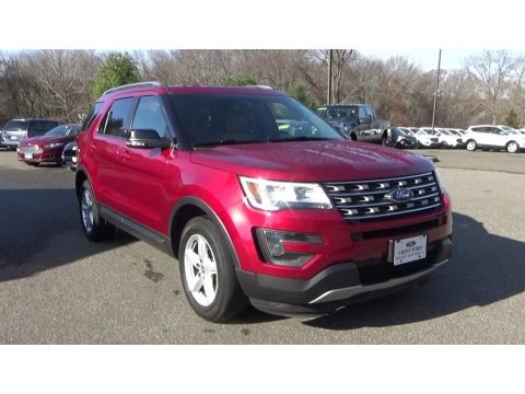 Ruby Red Metallic Tri-Coat 2016 Ford Explorer XLT 4WD