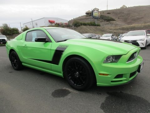 Gotta Have it Green 2014 Ford Mustang V6 Premium Coupe