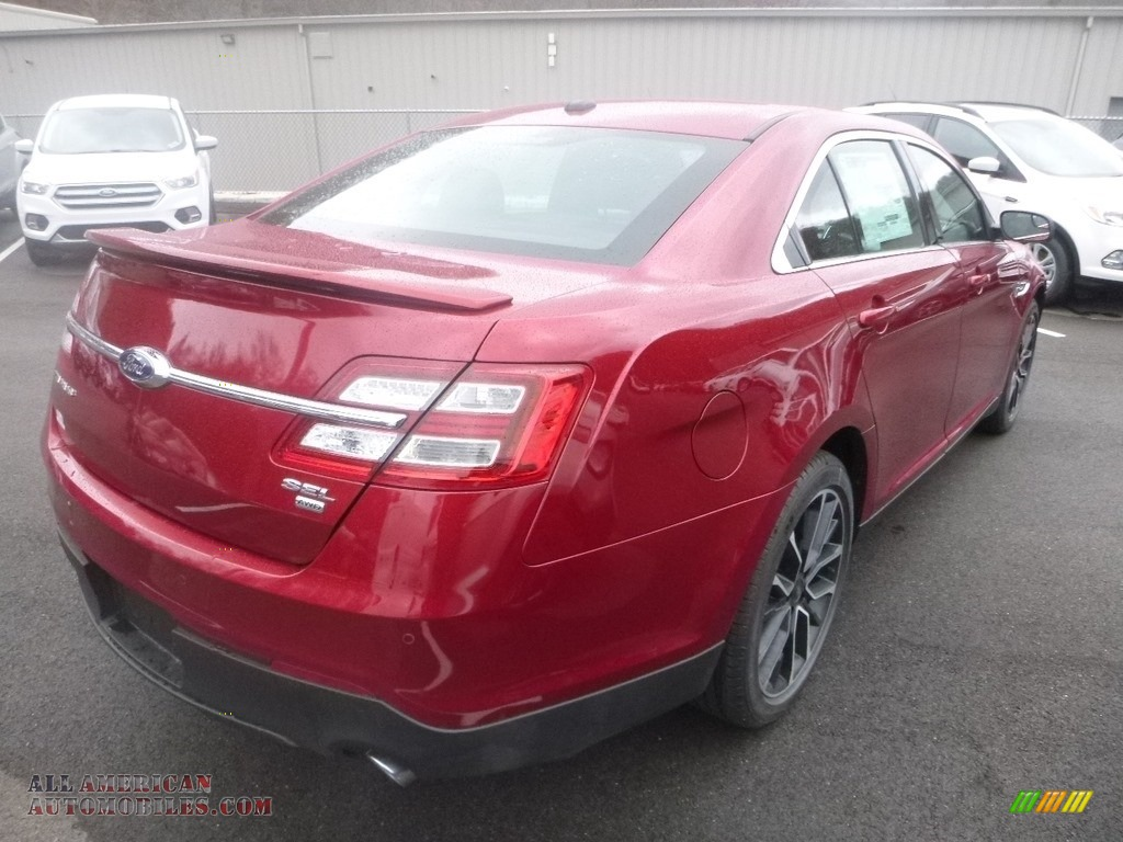 2019 Taurus SEL AWD - Ruby Red / Charcoal Black photo #2