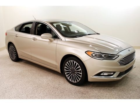 White Gold 2017 Ford Fusion SE AWD