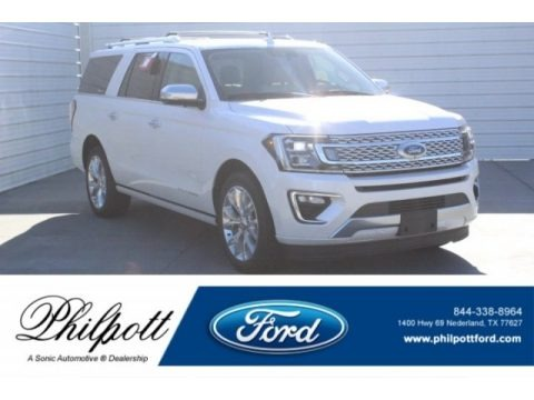 White Platinum Metallic Tri-Coat 2019 Ford Expedition Platinum Max