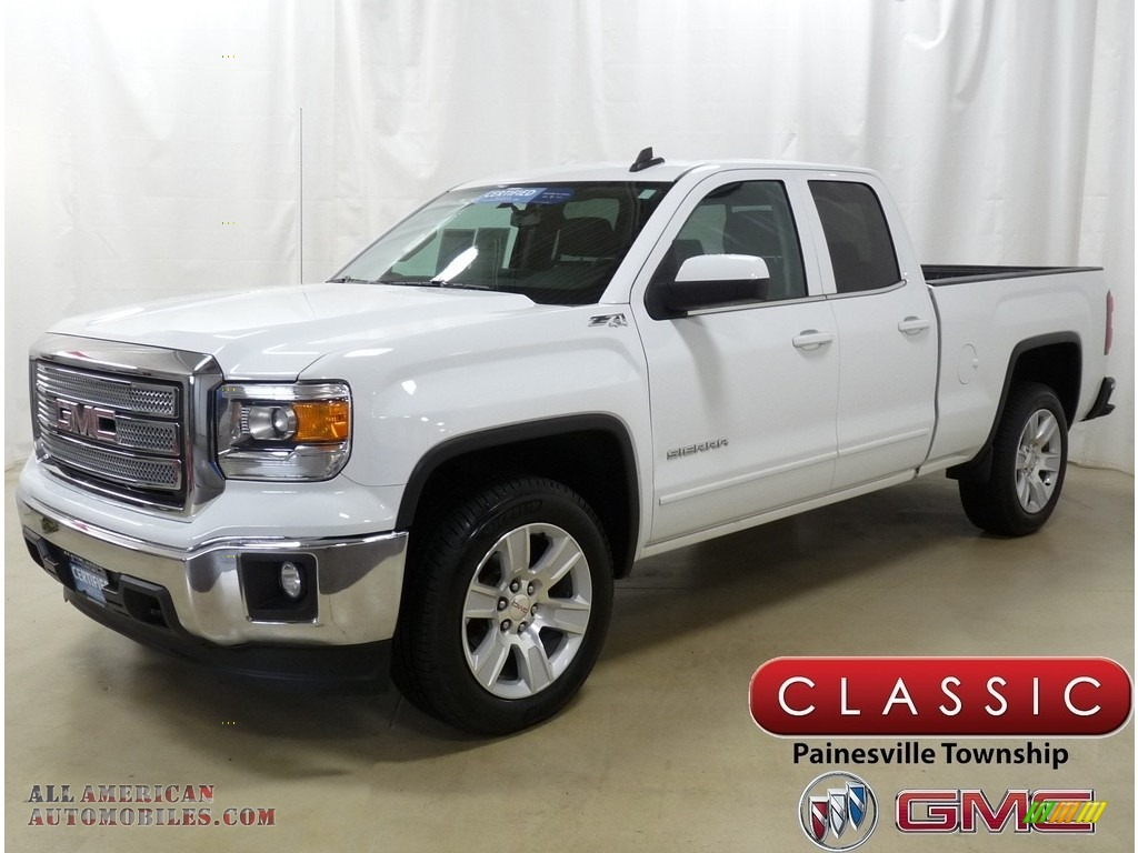 2015 Sierra 1500 SLE Double Cab 4x4 - Summit White / Jet Black photo #1