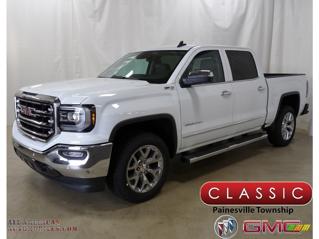 2018 Sierra 1500 SLT Crew Cab 4WD - Summit White / Cocoa/­Dune photo #1