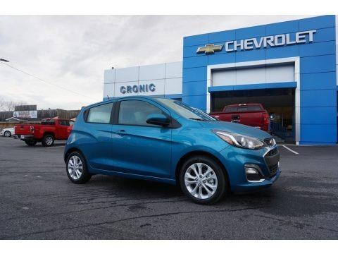 Caribbean Blue Metallic 2019 Chevrolet Spark LT