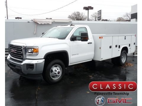 Summit White 2019 GMC Sierra 3500HD Regular Cab Utility Truck
