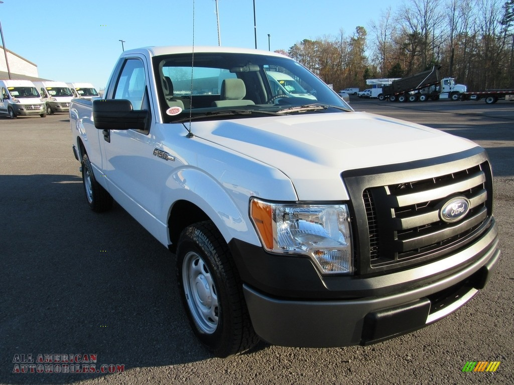 2012 F150 XL Regular Cab - Oxford White / Steel Gray photo #36