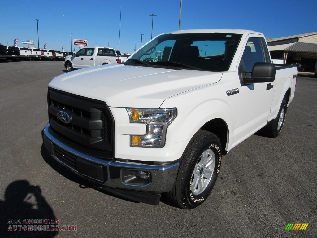 2017 F150 XL Regular Cab 4x4 - Oxford White / Earth Gray photo #1