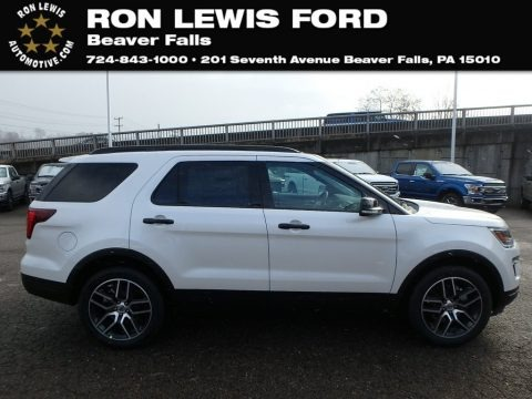 White Platinum 2019 Ford Explorer Sport 4WD