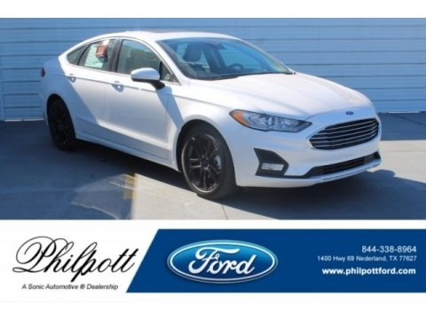 White Platinum 2019 Ford Fusion SE