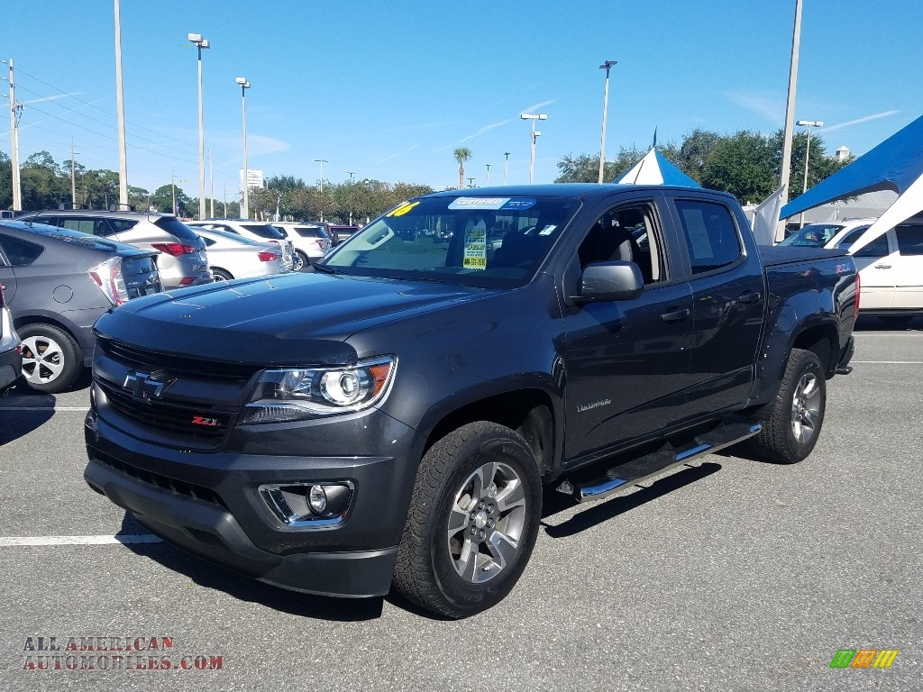 2016 Colorado Z71 Crew Cab 4x4 - Cyber Gray Metallic / Jet Black photo #1
