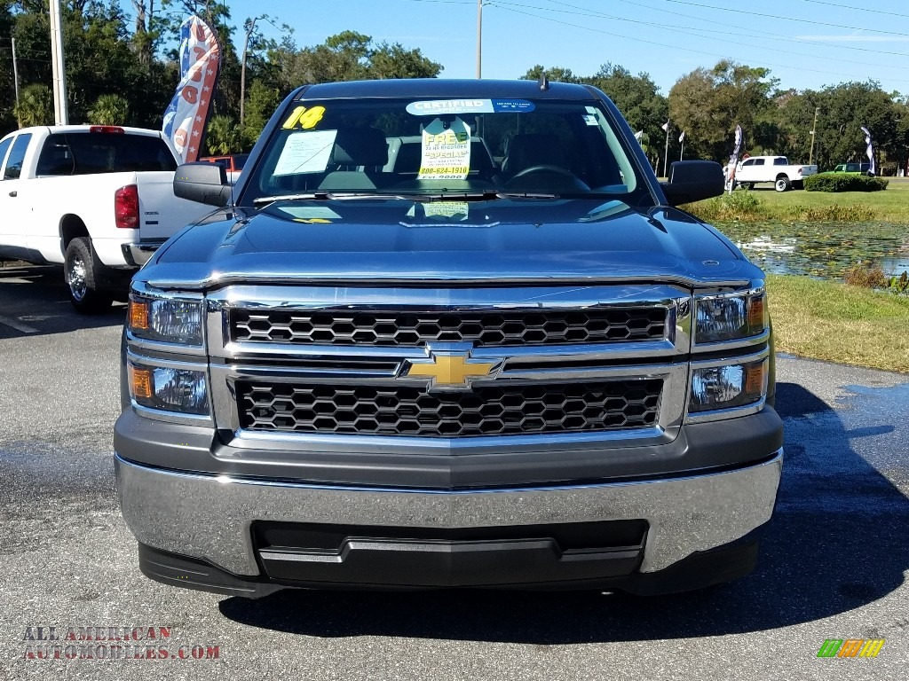 2014 Silverado 1500 WT Regular Cab - Blue Granite Metallic / Jet Black/Dark Ash photo #8