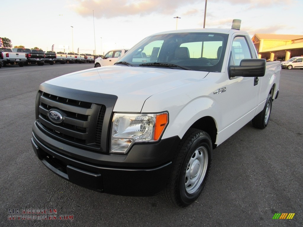 2012 F150 XL Regular Cab - Oxford White / Steel Gray photo #1