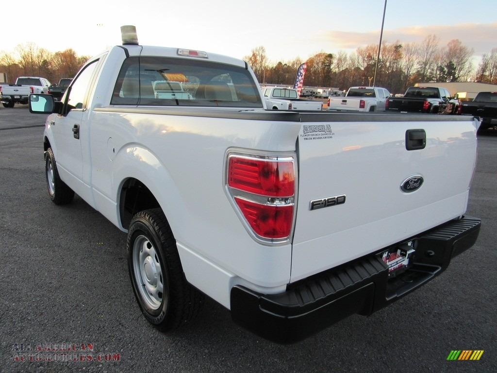 2012 F150 XL Regular Cab - Oxford White / Steel Gray photo #3