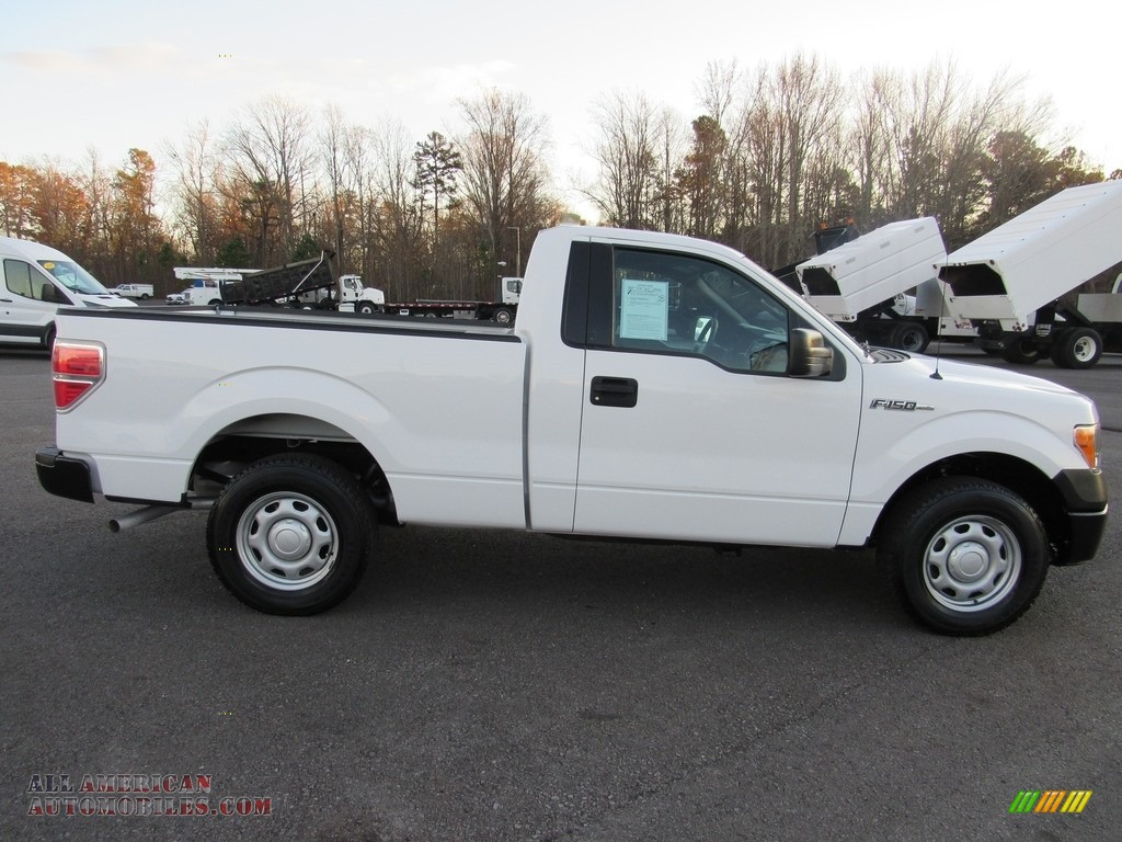 2012 F150 XL Regular Cab - Oxford White / Steel Gray photo #6