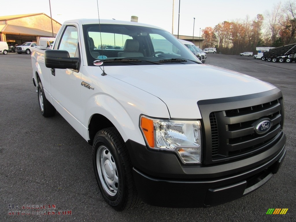 2012 F150 XL Regular Cab - Oxford White / Steel Gray photo #7