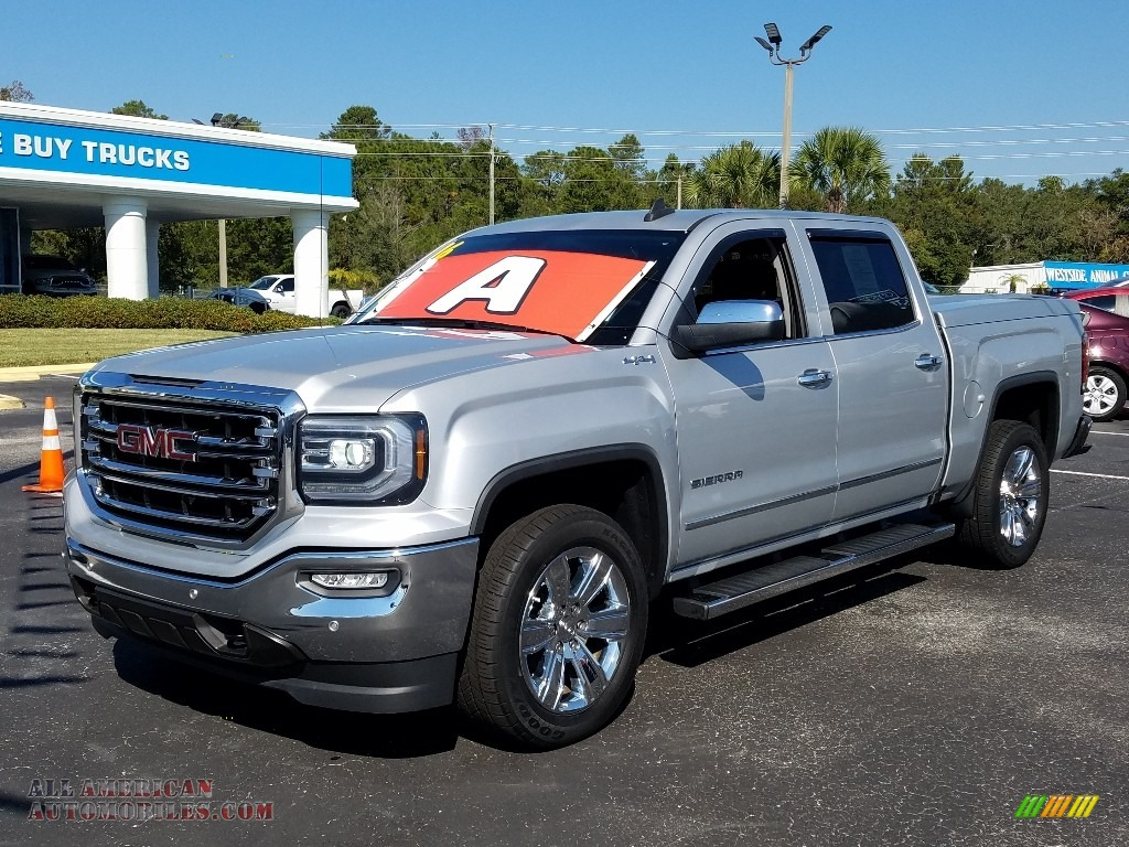 2016 Sierra 1500 SLT Crew Cab 4WD - Quicksilver Metallic / Jet Black photo #1