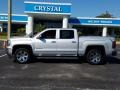 GMC Sierra 1500 SLT Crew Cab 4WD Quicksilver Metallic photo #2