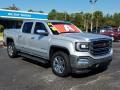 GMC Sierra 1500 SLT Crew Cab 4WD Quicksilver Metallic photo #7