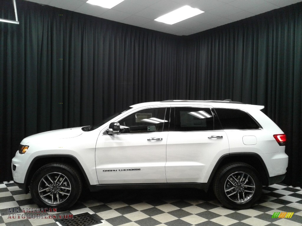 2019 Grand Cherokee Limited 4x4 - Bright White / Light Frost Beige/Black photo #1