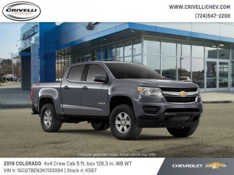 Satin Steel Metallic 2019 Chevrolet Colorado WT Crew Cab 4x4