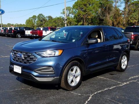Blue Metallic 2019 Ford Edge SE