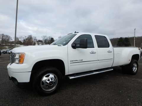 Summit White 2011 GMC Sierra 3500HD Denali Crew Cab 4x4