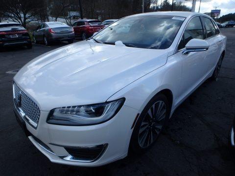 White Platinum Metallic Tri-Coat 2018 Lincoln MKZ Select AWD