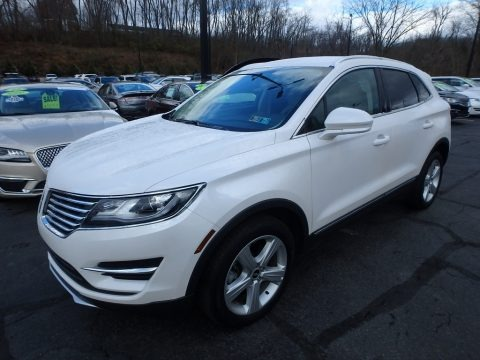 White Platinum 2017 Lincoln MKC Premier AWD