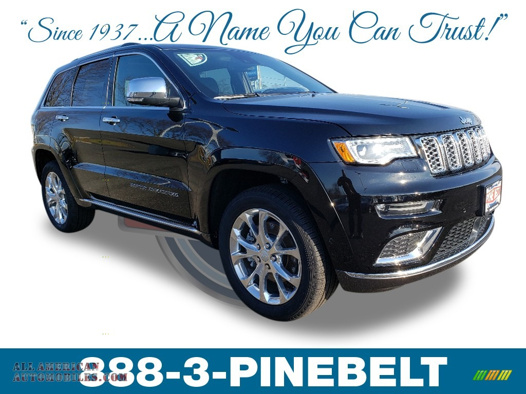 2019 Grand Cherokee Summit 4x4 - Diamond Black Crystal Pearl / Black photo #1