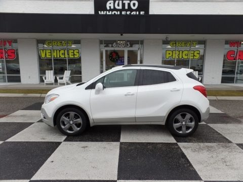 White Pearl Tricoat 2014 Buick Encore Leather