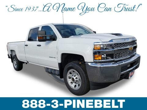 Summit White 2019 Chevrolet Silverado 3500HD Work Truck Crew Cab 4x4