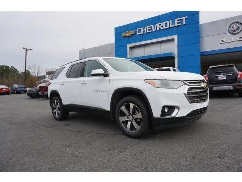 Summit White 2019 Chevrolet Traverse LT