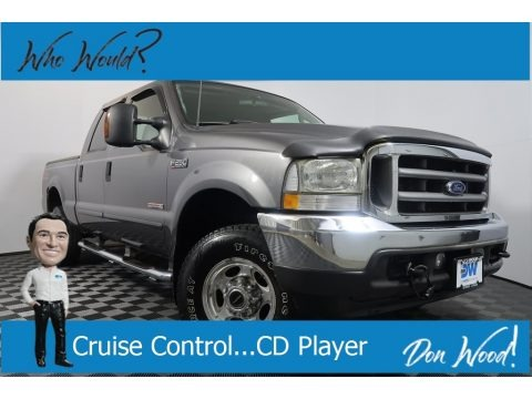 Dark Shadow Grey Metallic 2003 Ford F250 Super Duty Lariat Crew Cab 4x4