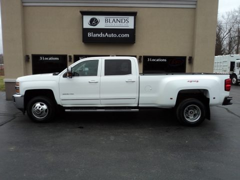 Summit White 2015 Chevrolet Silverado 3500HD LTZ Crew Cab 4x4