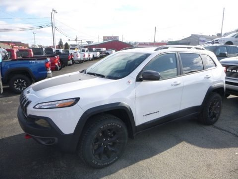 Bright White 2017 Jeep Cherokee Trailhawk 4x4