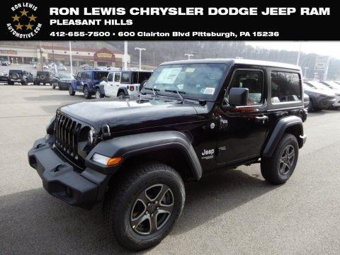 Black 2019 Jeep Wrangler Sport 4x4