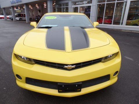 Bright Yellow 2014 Chevrolet Camaro LS Coupe