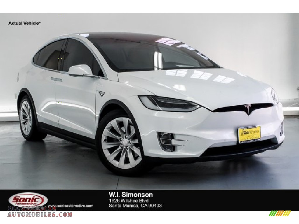 Pearl White Multi-Coat / Cream Tesla Model X 75D